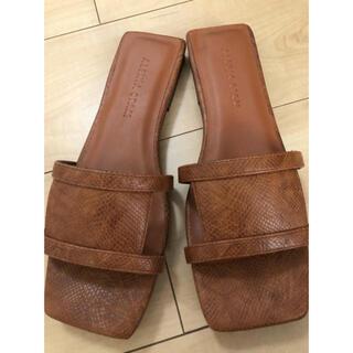 アリシアスタン(ALEXIA STAM)のalexiastam  サンダル Flat Square Toe Sandals(サンダル)
