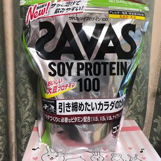 ザバス(SAVAS)の新品未開封 明治 SAVAS ザバス ソイプロテイン ココア味 945g(プロテイン)