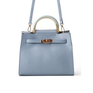 GRL - 【本日限定価格】2Wayスクエアハンドバッグ ショルダーバッグ ブルー 新品