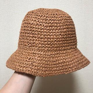 コーエン(coen)のcoen ミニマルこま編みハット バケットハット(麦わら帽子/ストローハット)