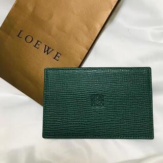 LOEWE - ロエベ アナグラム 型押し カードケース