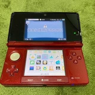 ニンテンドー3DS(ニンテンドー3DS)の【DLソフト入り】ニンテンドー3DS フレアレッド ゼルダの伝説 動物の森(携帯用ゲーム機本体)