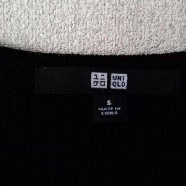UNIQLO(ユニクロ)のUNIQLO ユニクロ ニット カットソー 黒 Sサイズ 美品 インスタ レディースのトップス(カットソー(長袖/七分))の商品写真
