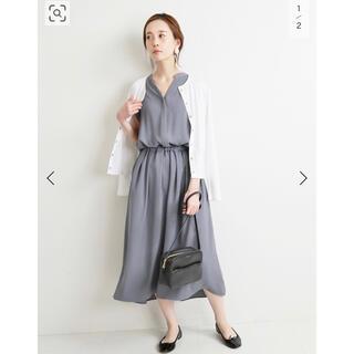 IENA - *未使用に近い*◆IENA◆サテンスキッパーシャツワンピース