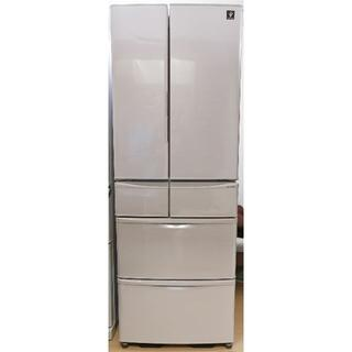 シャープ(SHARP)の2017年製シャープ6ドア冷蔵庫SJ-PF46C-H、23区近郊配送・設置します(冷蔵庫)