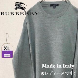 バーバリー(BURBERRY)の【イタリア製】バーバリー Burberry ニット 刺繍ロゴ 激レア(ニット/セーター)