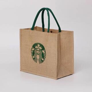 Starbucks Coffee - スターバックス STARBUCKS 麻トートバッグ