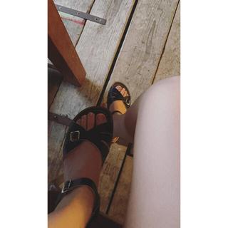 salt water black sandals.