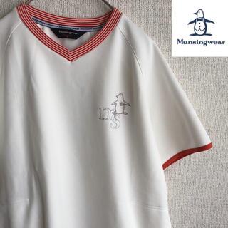 Munsingwear - Munsingwear  レディース 半袖 Vネック Tシャツ マンシングウェア