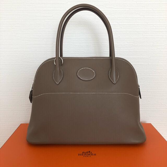 Hermes(エルメス)のHERMES エルメス ボリード27 エトゥープ シルバー金具 スイフト Y刻印 レディースのバッグ(ハンドバッグ)の商品写真