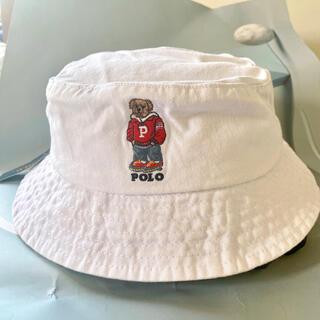 ポロラルフローレン ベージュ ポロベア帽子 バケットハット白