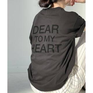 スピックアンドスパン(Spick and Span)の★新品タグ付★Spick and Span DEAR HEARTバックロゴT2(Tシャツ(半袖/袖なし))