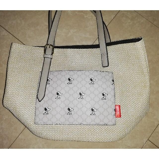 しまむら(シマムラ)のしまむら スヌーピー マカダム柄 トートバッグ 人気 レディースのバッグ(トートバッグ)の商品写真
