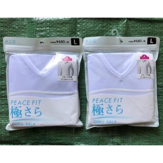 イオン(AEON)の極さら 半袖 Vネックシャツ L 2枚 未使用 メンズ インナーシャツ(その他)