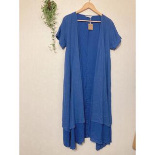 メルロー(merlot)の新品 フィリル  ロングカーディガン 羽織り ブルー(カーディガン)