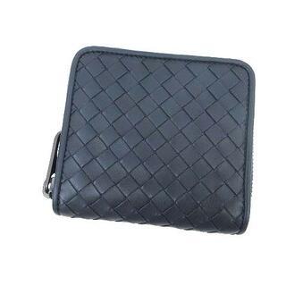 ボッテガヴェネタ(Bottega Veneta)のボッテガヴェネタ 二つ折り財布 イントレチャート ラウンドファスナー 紺 (折り財布)
