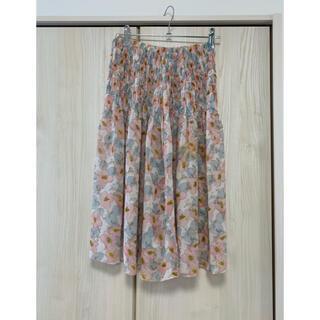 インデックス(INDEX)のフレアスカート ベアトップ チュニック 花柄(ひざ丈スカート)