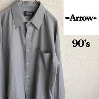 アロー(ARROW)の90s ARROW 長袖 シャツ アロー vintage ヴィンテージ 古着 M(シャツ)