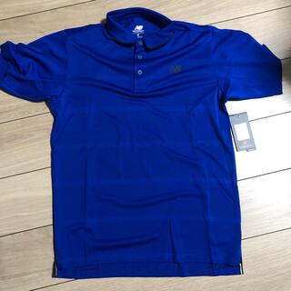 ニューバランス(New Balance)のニューバランス ポロシャツ 青 ブルー 半袖(ポロシャツ)