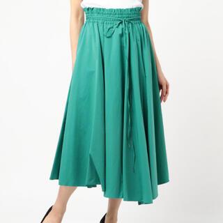 ミラオーウェン(Mila Owen)のMilaOwen アシンメトリーヘムフレア巻きスカート かわいい おしゃれ(ロングスカート)