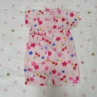 HOT BISCUITS - ホットビスケッツ  甚平ロンパース 女児 Mサイズ(70~80cm)