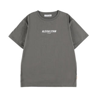 ALEXIA STAM - Front Logo Tee Charcoal