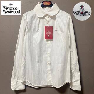 Vivienne Westwood - 新品☺︎Vivienne Westwood シャツ 長袖 オーブ ストライプ 白