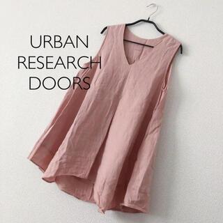 DOORS / URBAN RESEARCH - リネン Vネック ブラウス ワイド アーバンリサーチドアーズ