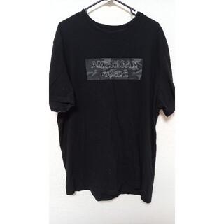 アメリカンイーグル(American Eagle)のアメリカンイーグル ボックスロゴ Tシャツ ブラック サイズ XL(Tシャツ/カットソー(半袖/袖なし))
