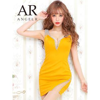 AngelR - AngelR ビジューノースリーブディープスリットミニドレス