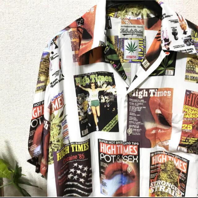 WACKO MARIA(ワコマリア)の【舐達麻】ワコマリア HIGH TIMES アロハシャツ L size美品 メンズのトップス(シャツ)の商品写真