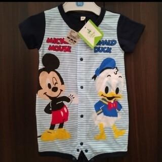 Disney - 【新品】ミッキー&ドナルド 半袖ロンパース【80cm】