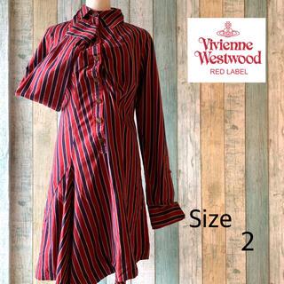 Vivienne Westwood - 【美品】Vivienne Westwood アシンメトリーシャツワンピース 2