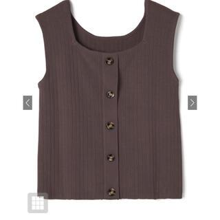 グレイル(GRL)のGRL 前後2wayスクエアネックニットトップス(シャツ/ブラウス(半袖/袖なし))