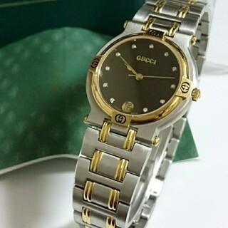 グッチ(Gucci)の【美品】腕時計 GUCCI グッチ 腕時計 ダイヤモンド11P 箱付き 9000(腕時計(アナログ))
