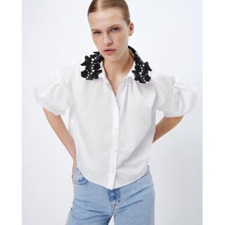 ZARA - ZARA ザラ コントラストカラー ポプリンシャツ