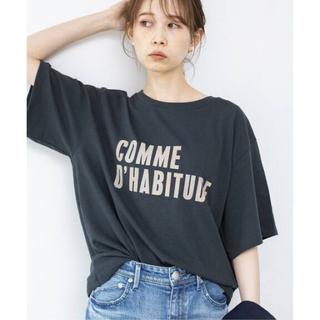IENA - 6月末再入荷【新品】イエナ COMME DHABITUDE Tシャツ