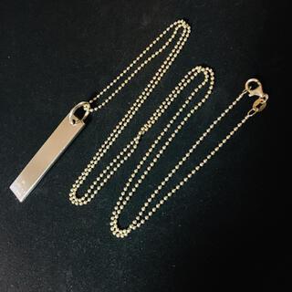 グッチ(Gucci)のGUCCI グッチ 925 シルバー プレート ロング ネックレス 74cm(ネックレス)