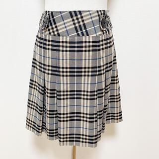 バーバリー(BURBERRY)のバーバリー Burberry チェック柄スカート プリーツスカート(ひざ丈スカート)