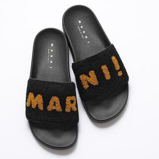 マルニ(Marni)のMARNI ボアシャワーサンダル 38(サンダル)