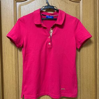 BURBERRY BLUE LABEL - ブルーレーベルクレストブリッジ ピンクポロシャツ 40