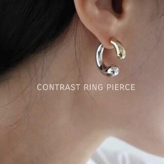 Ameri VINTAGE - 【NEW】contrast ring pierce ◆ 在庫1点