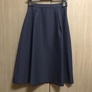 インデックス(INDEX)のネイビー スカート(ひざ丈スカート)