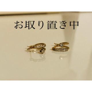 ジュエリーツツミ(JEWELRY TSUTSUMI)のK10YGダイヤモンドフープピアス(ピアス)