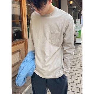 コモリ(COMOLI)の【CIOTA/シオタ】スビンコットン10/-度詰め吊り天竺ポケット付きロンT(Tシャツ/カットソー(七分/長袖))