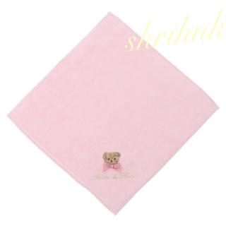 Maison de FLEUR - 限定♡メゾンドフルール♡クマ刺繍タオルハンカチ♡今治♡ベア♡ジルスチュアート