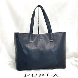 Furla - 美品☆FURLA フルラ トートバッグ ブラック A4 肩掛け 通勤 レザー 革