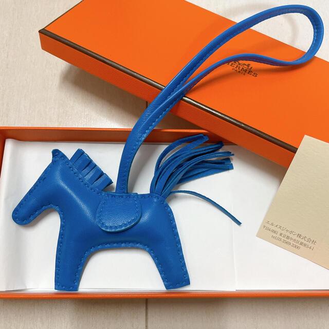 Hermes(エルメス)のエルメス ロデオPM ブルーザンジバル 1色ロデオ バッグチャーム 美品 ハンドメイドのファッション小物(バッグチャーム)の商品写真