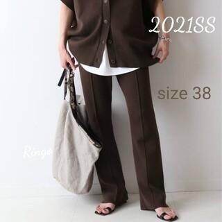 FRAMeWORK - 【2021SS】コットンポリセンターシームパンツ◆ブラウン/size 38
