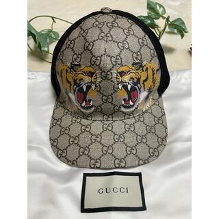 グッチ(Gucci)のGUCCI  タイガープリント GGスプリーム ベースボールキャップ(キャップ)